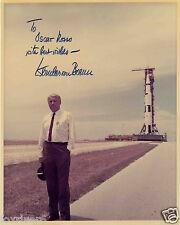 WERNER VON BRAUN Signed Photograph Aerospace Engineer / SATURN 5 Rocket preprint