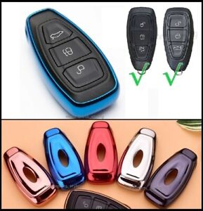 Key Cover for Ford Smart Key Remote Case Fob Skin Protection Shell Hull Car t39*