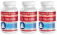 High Potency Anxiety Relief - L-THEANINE 200mg - Increases Concentration - 3B