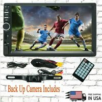 "7"" 2 Din Touch Screen Car MP5 MP3 Player Bluetooth Stereo AM FM Radio USB/TF cam"