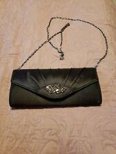 Krasceva Black Satin Clutch Bag