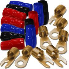 Dietz Kabelschuh Set für 35mm² Powerkabel - 4 Ringösen 4 Gabelschuhe mit Tüllen