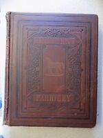 RARE ORIGINAL LARGE 1880s HB BOOK - MODERN PRACTICE FARRIERY by W. J. MILES