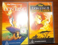 Disney The Lion King 1  Simba's Pride Lion King 2 VHS Tapes. Excellent condition