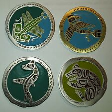 Geocoin Unactivated Trackable - 4 Native American Indian Totem Geocoins