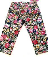 "Size 9 U-cute Junior Women's Capri Jeans Floral Print New NWT 17"" Inseam Pedal P"