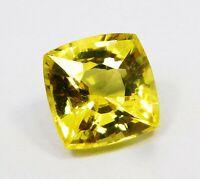 Natural CERTIFIED Shape Cushion 11 Ct Yellow Sapphire  Loose Gemstone