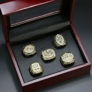 5 Ring Set NFL San Francisco 49ers Championship Ring Set Display Box