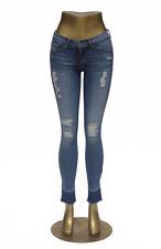 Flying Monkey Jeans L9252 High Waist Torn Blue Pebbles Skinny NWT Sz 28 in