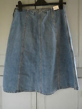 New GAP Ladies Vintage 70s Style A Line Light Denim Skirt Size UK 8 US 1