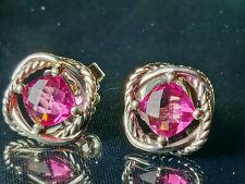 David Yurman 7mm Tourmaline Infinity Earrings
