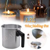 1.2L Wax Melting Pot Pouring Pitcher Jug Large Aluminium Pot For Candle Soap Mak