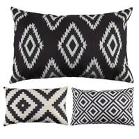 50x30cm canapé géométrique moderne housse de coussin taie d'oreiller décor Neuf