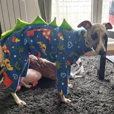 "dog pyjamas jumper puppy Italian fleece dinosaur all in one fleece 16-18""dinosau"