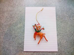 Grolier Christmas Magic Bambi Resin Tree Ornament