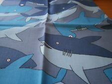 """Remnant/Offcuts  Sharks Shades of Blue 19 x 20"""""""