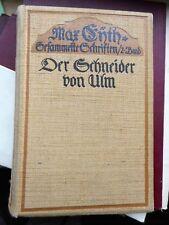 Max Eyth: Der Schneider von Ulm Geschichte eines zu früh Geborenen 1909 Oln.