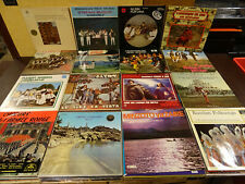 LOT OF 120 FOLK MUSIC LP's FROM DIFFERENT COUNTRIES