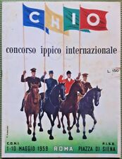 CHIO 28 CONCORSO IPPICO INTERNAZIONALE 1959 Coni Fise Ippica Mancioli Roma Siena