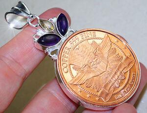 Außergewöhnlicher Achat Copper Coin Anhänger 925er Silber NEU +++ Mehr im Shop!