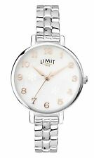 Limit Ladies Silver Effect Bracelet Watch Pearlescent Dial 60019