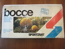 "Bocce Sportcraft Lawn Bowling Game~Italy~01095~8 - 3 1/2"" Lacquered Wood Balls~"