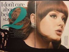 Adele 4pg GLAMOUR magazine feature, clippings