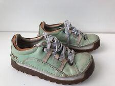 Used Women's The Art Company Mint Green Leather Skyline Shoes Uk6 EU39