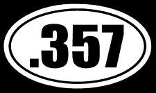 .357 Vinyl Decal Sticker Car Window Wall Bumper Gun Magnum Ammo Home Security