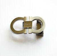 Silver Salvatore Ferragamo Men's Belt Buckle for 34-35mm leather strap ITALY