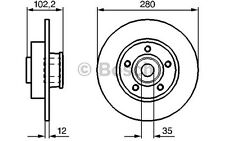BOSCH Disco de freno (x2) Trasero 280mm RENAULT TRAFIC OPEL VIVARO 0 986 479 271