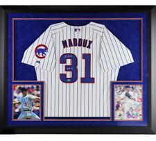 "Greg Maddux Signed Chicago Cubs Large Framed Jersey with ""HOF 14"" Inscription"