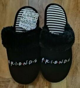 Friends Central Perk Ladies Mule Slippers Black UK Size 4-7