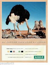 PUBLICITE ADVERTISING 096  1999  Aigle   chaussures en toile Ténéré