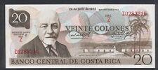 1983 Costa Rica 20 Colones,Tyvek Polymer. RARE - UNC