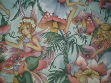 Vintage LARGE FAIRY Fabric - GORGEOUS!! (55cm x 50cm)