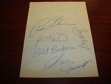 Russ Gibson, J.C. Martin, Perry, Speier Signed 4X6 Album Page JSA Autograph A9