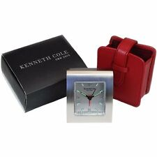 Kenneth Cole New York Silver Alarm Clock Christmas  Gift For Her - Him