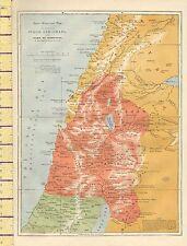 c1880 MAP ~ JUDAH & ISRAEL WITH PART OF PHOENICIA GALILEE BASHAN