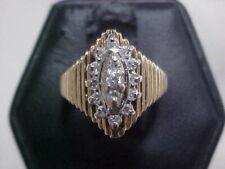 Yellow Gold sz3.5 *No Reserve* *Vintage*Natural .33ctw Diamond Pinkie Ring 14K