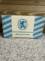 Vintage Lowenbrau Royal Coats of Arms Thick Bar Beer Coasters Collection Set