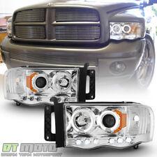 2002-2005 Dodge Ram 1500 03-05 2500 3500 LED Halo Projector Headlights Headlamps