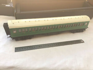 KIT BUILT O GAUGE SOUTHERN 802 COACH WITH PASSENGERS INSIDE - NICELY DONE !