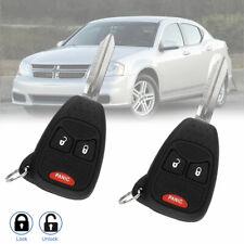 2 For Dodge Avenger Caliber Nitro 2008 2009 2010 2011 2012 Car Remote Key Fob