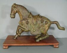 CHEVAL SCULPTURE ANIMALIÈRE EN BRONZE STYLE CHINE ANTIQUE/ STATUE CHEVAL BRONZE