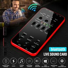 Mini Bluetooth Live Sound Card Phone Computer Webcast Headset Mic Voice Control
