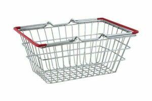 Mini Shopping Basket Kids Play Toy Cart Supermarket Desk Tidy Chip Basket Chrome