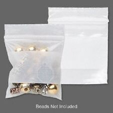 "2x2"" Clear with White Block Poly Ziplock Bag Zip Lock Storage, Tite-Lip, 100 Qty"