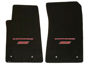 LLOYD Classic Loop EBONY FRONT FLOOR MATS with Red logos 2010 to 2015 CAMARO SS
