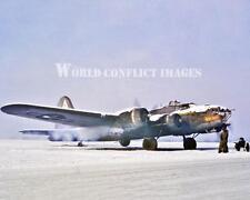 USAAF WW2 B-17 Bomber Ragin' Red Engine Start 8x10 Color Nose Art Photo 379th BG